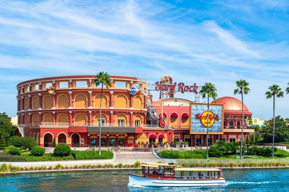 Hard Rock Cafe restaurant in the Universal Studios Park. A...