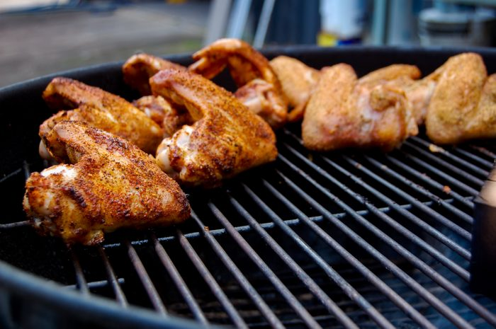 Chicken Wings on a Grill, Chicken Barbecue