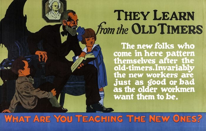 What Are You Teaching The New Ones?