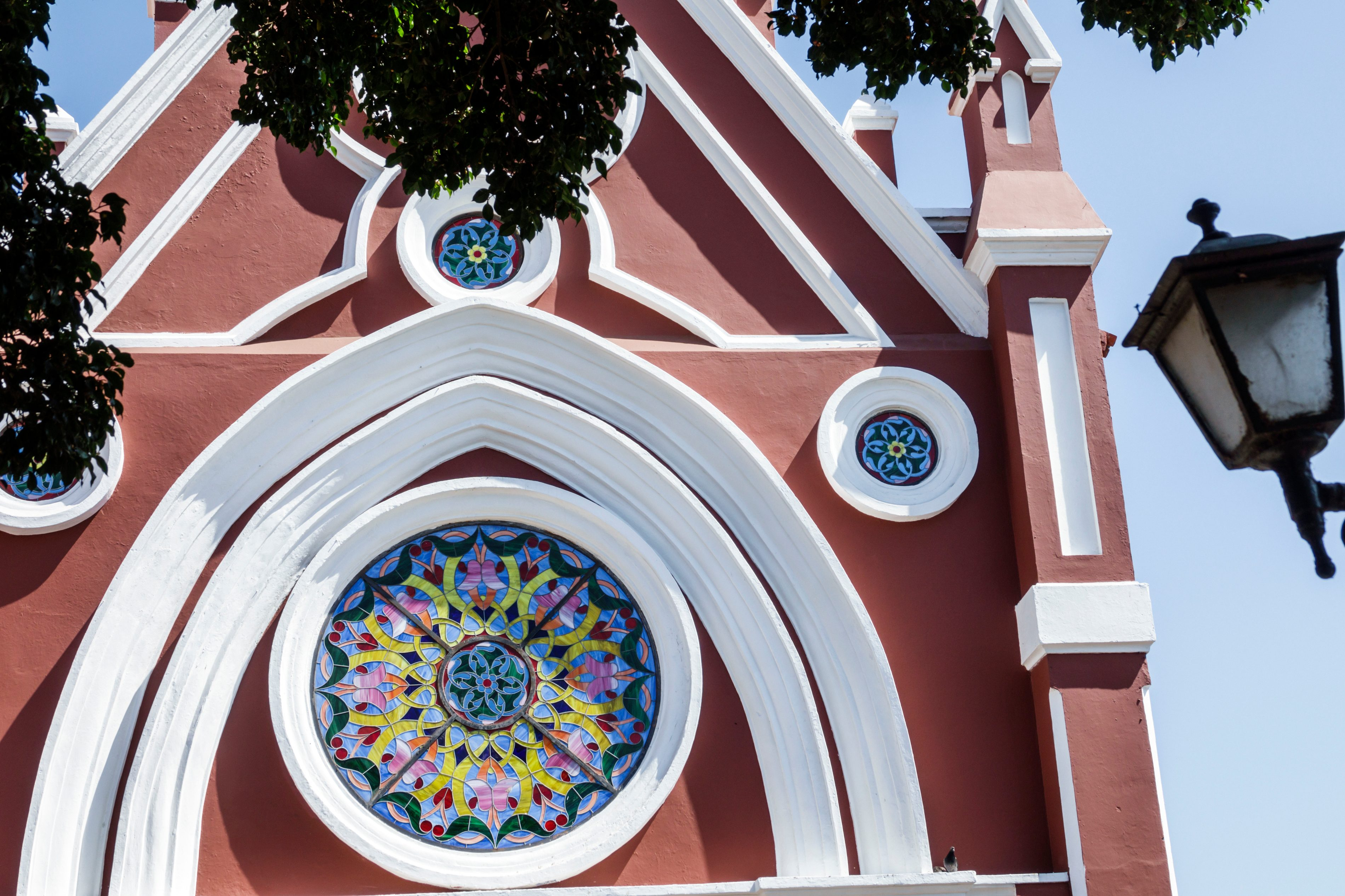 Cartagena, Fine Arts University, exterior and stained glass windows