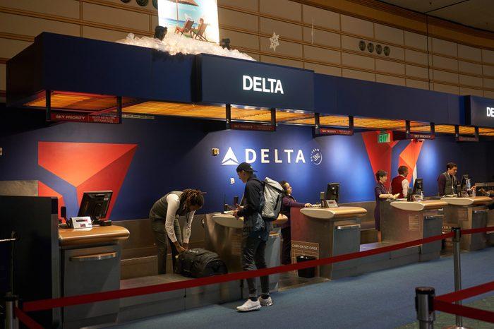 Delta Air Lines Check-in Desk