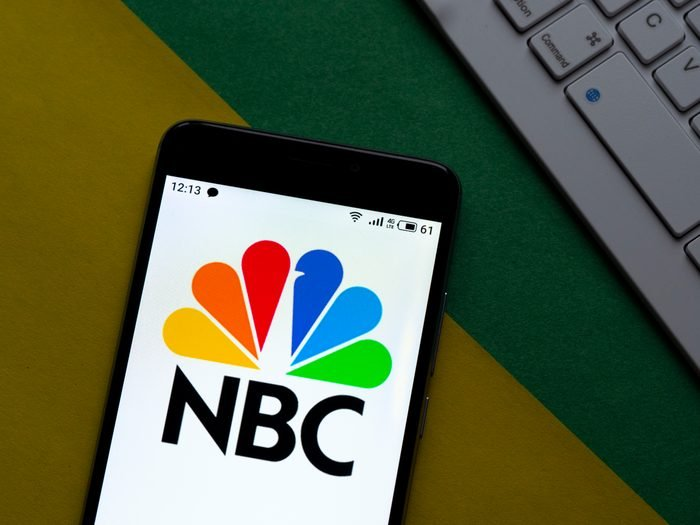 In this photo illustration an NBC TV Network logo seen...