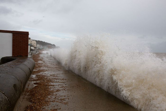 Storm Ciara Hits Sandgate Kent