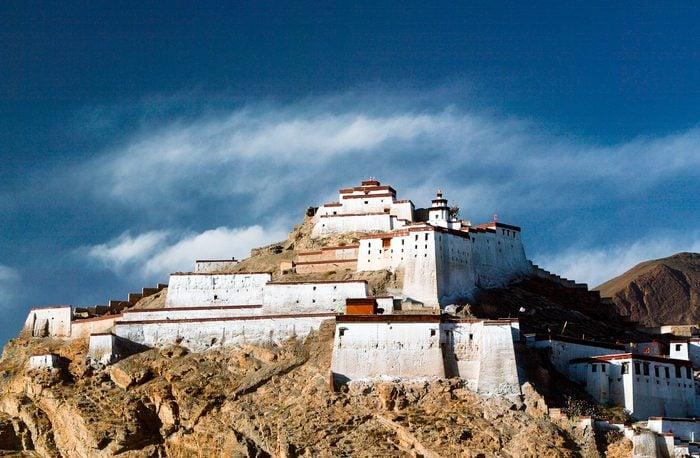 Gyantse dzong or fort Tibet