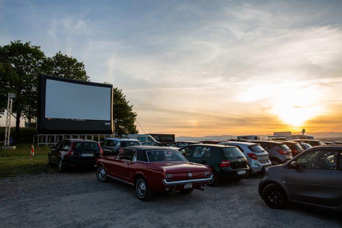 Drive-in cinema between the vines