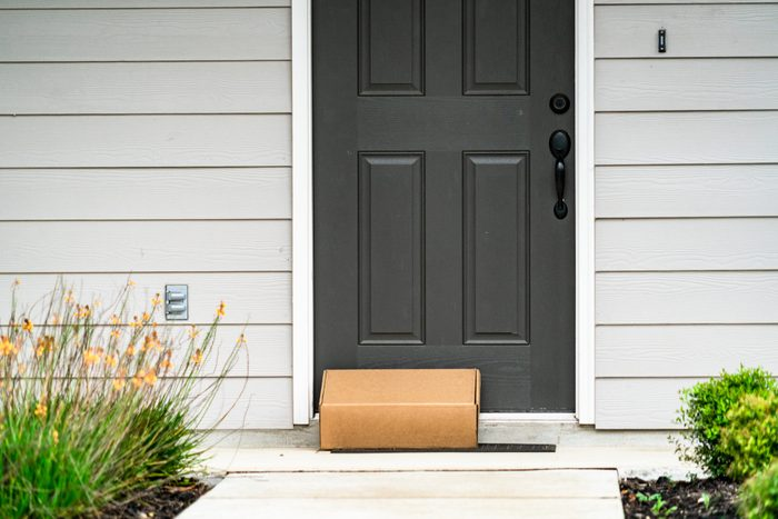 Package Delivery on Doorstep during Covid-19 Lockdown