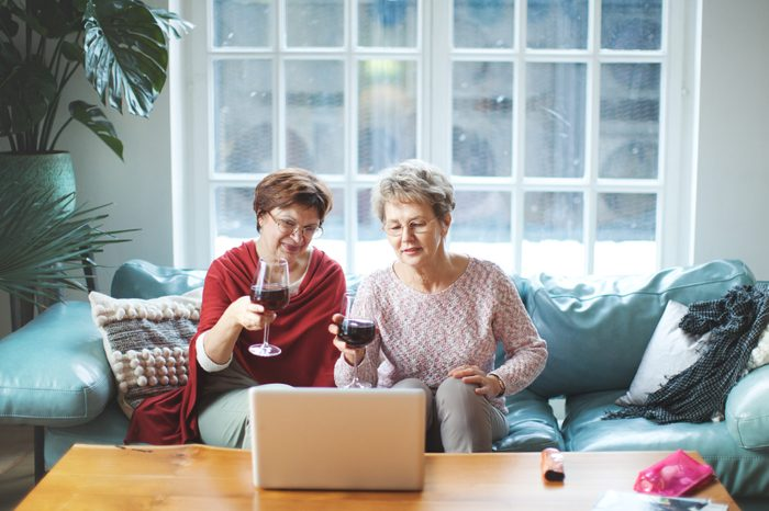 Senior women having a video call during quarantine