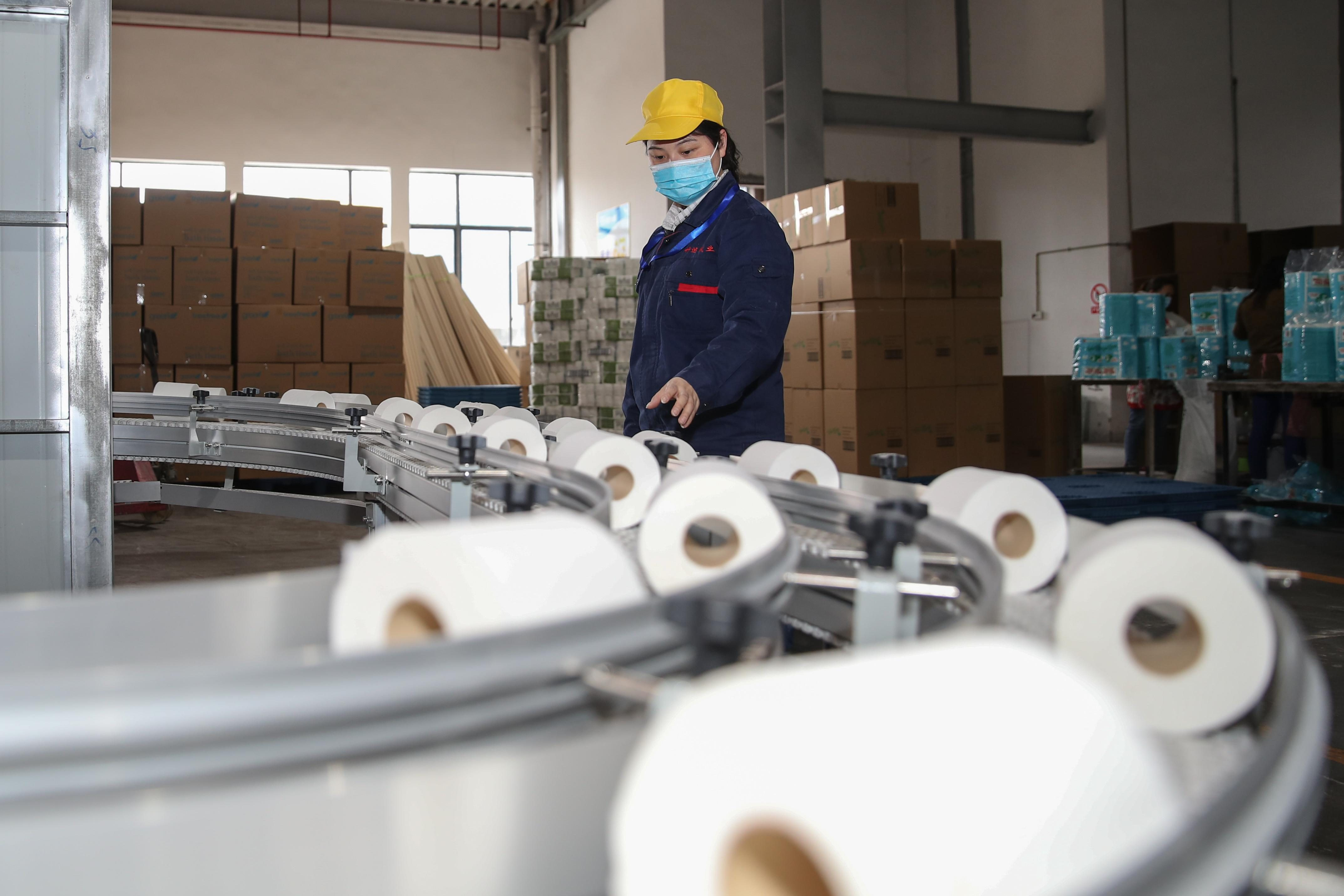 Toilet Paper Production For Exporting In Chishui