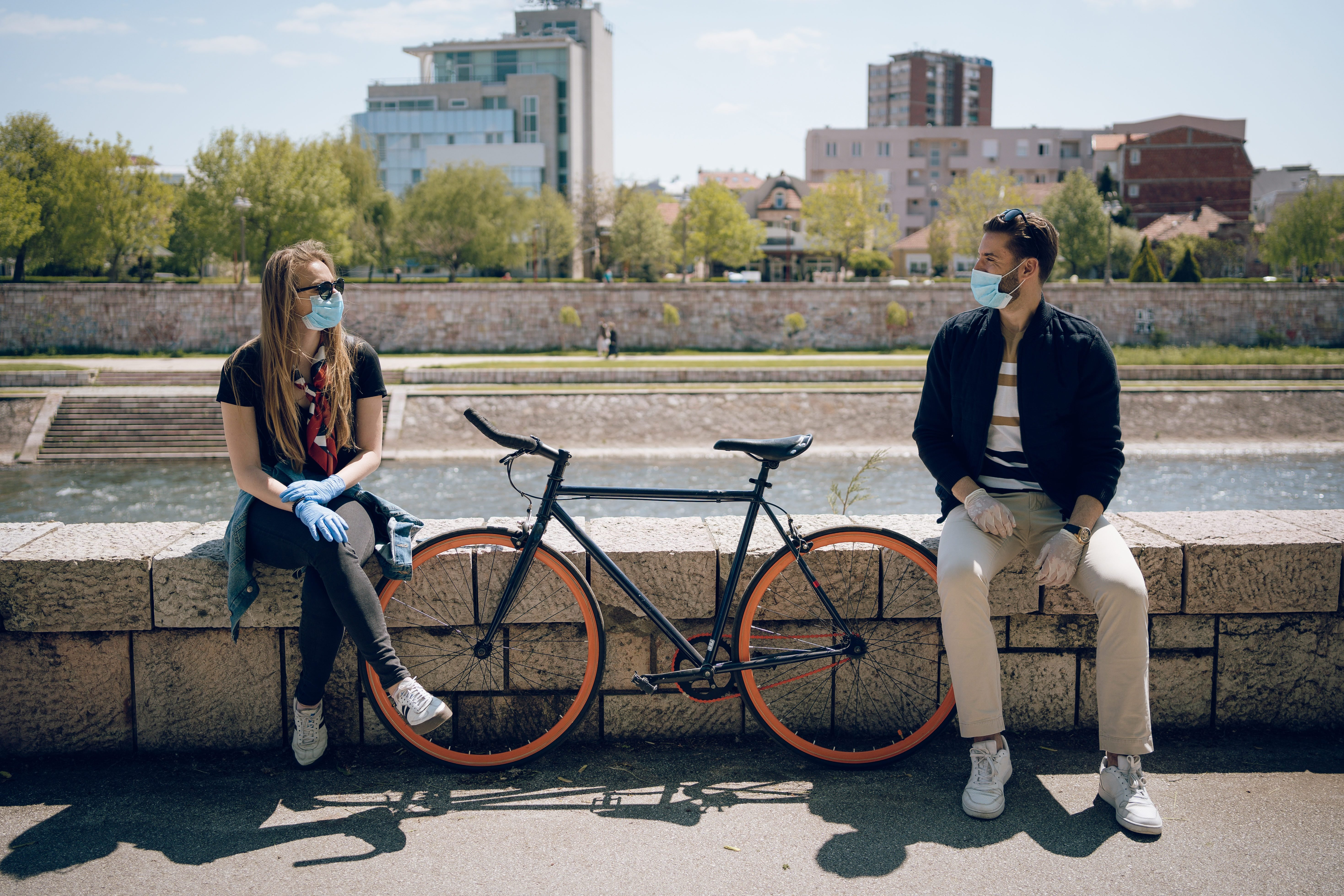 The prescribed measure of social distance is one bicycle