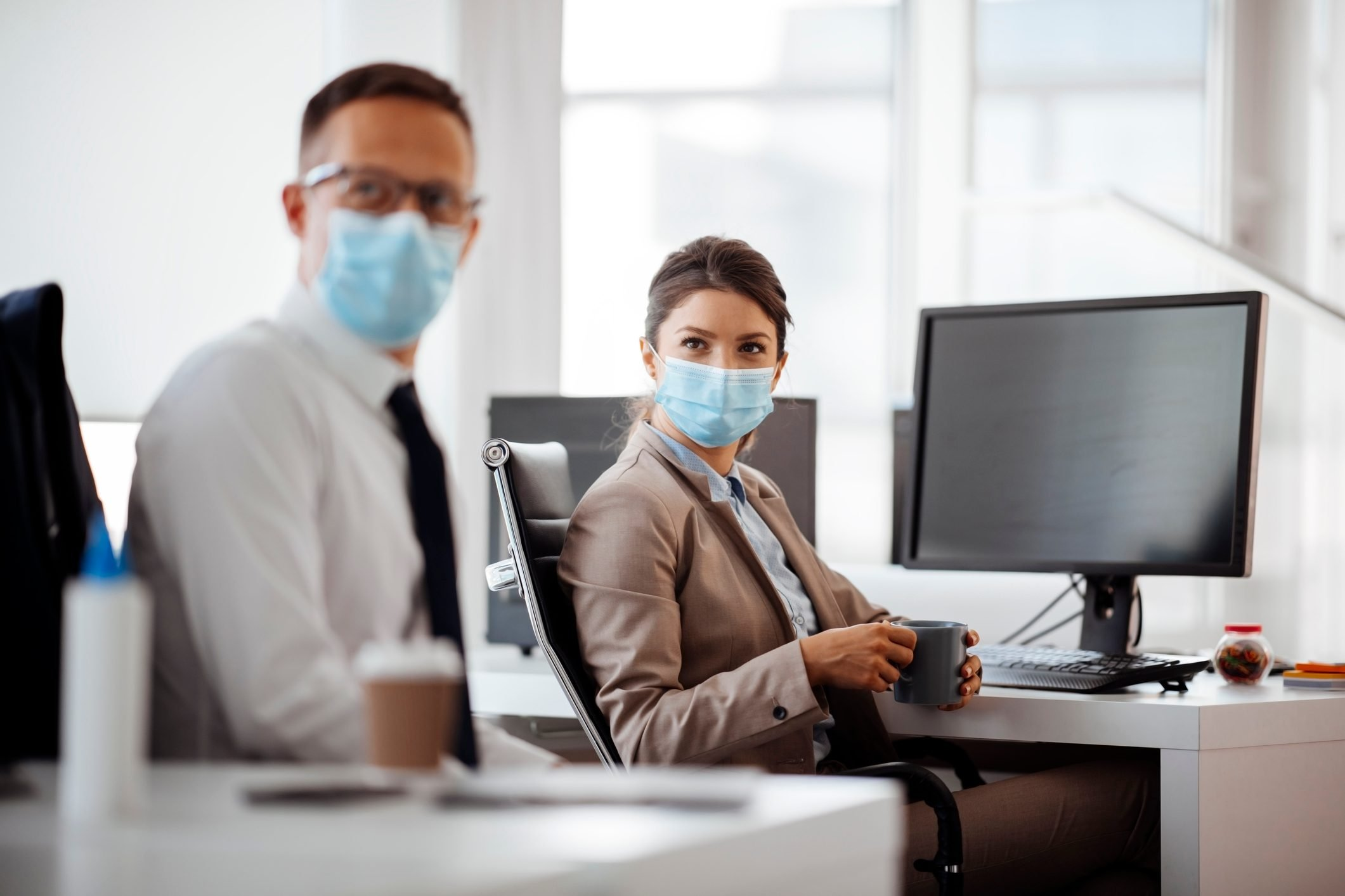 Business during epidemic stock photo