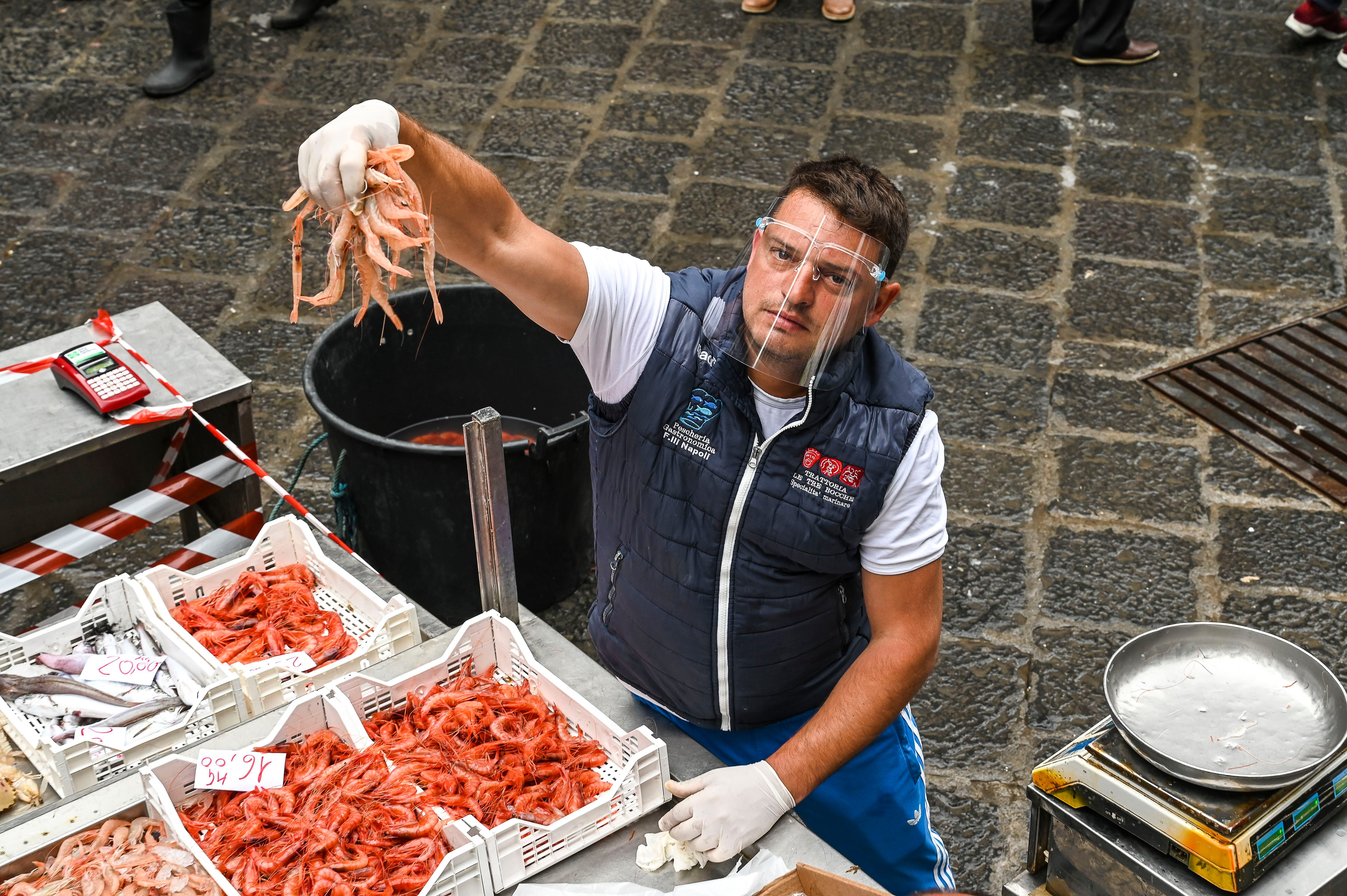 Traditional Fish Market Reopening In Catania