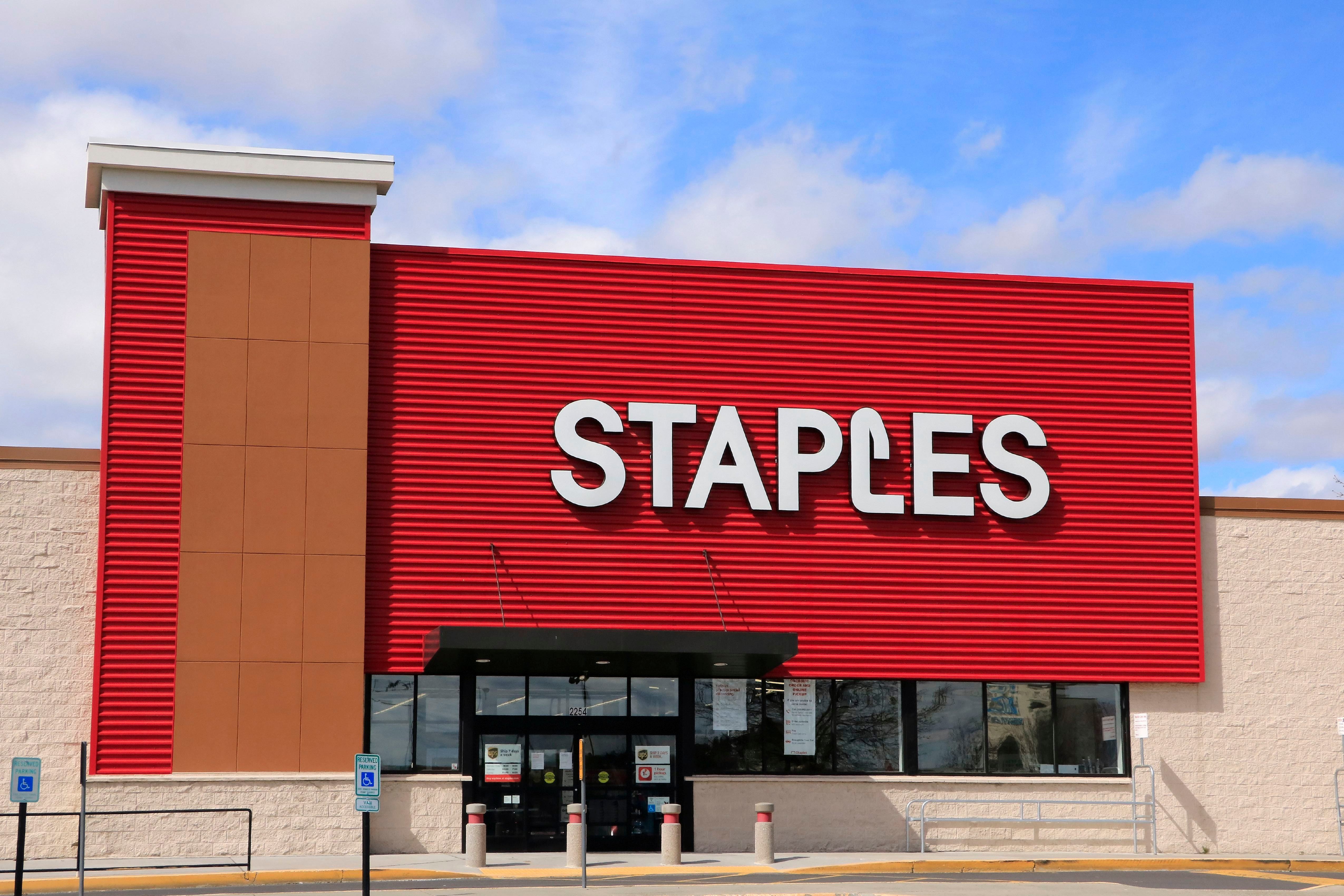 Staples store entrance