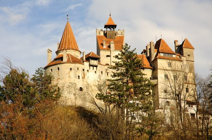 Dracula's Bran Castle viewed from left