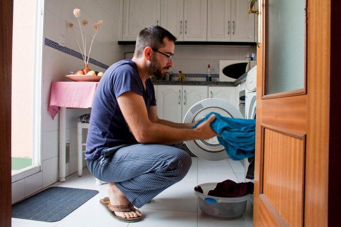 Man in kitchen