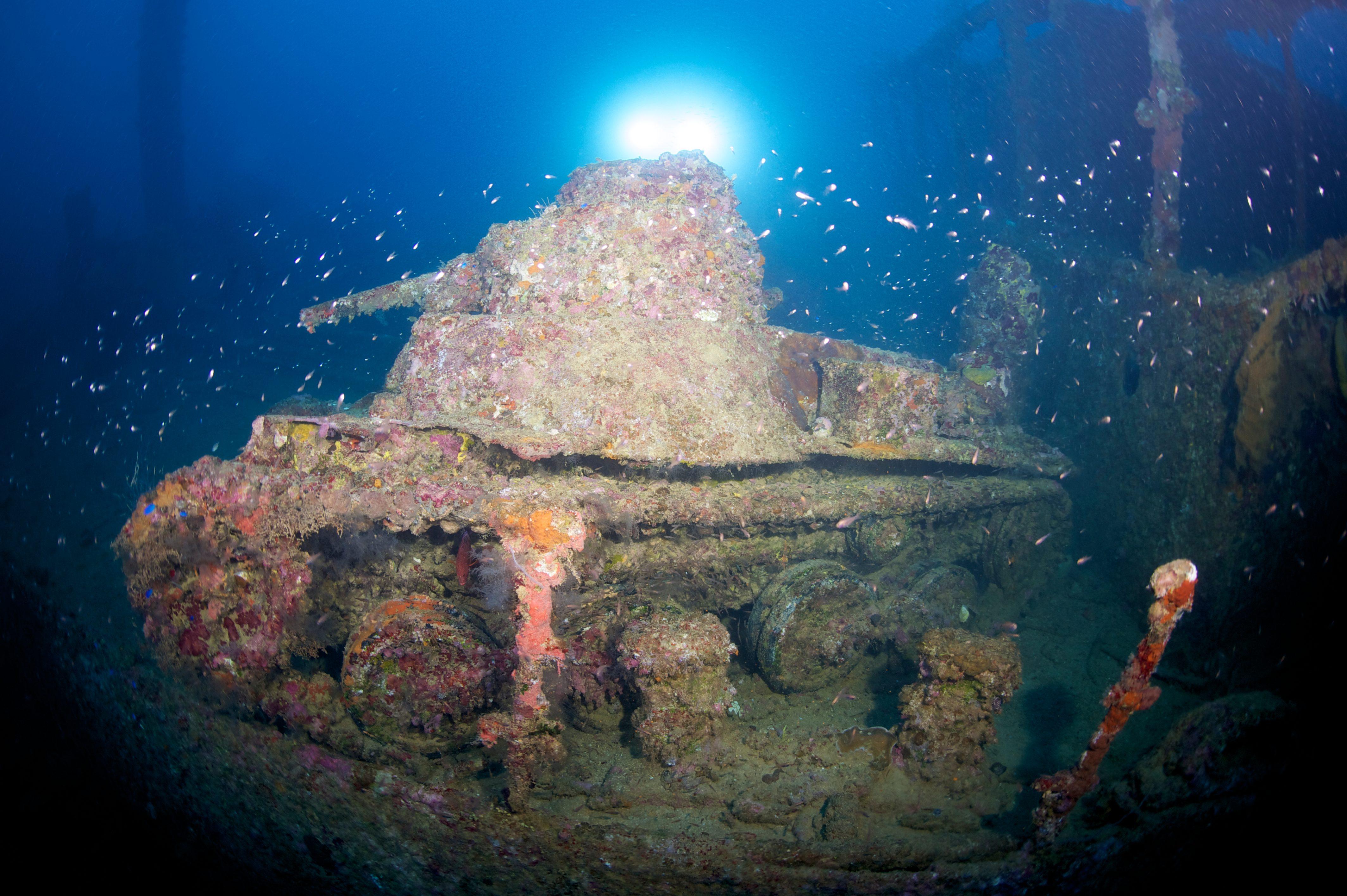 Shipwreck tank