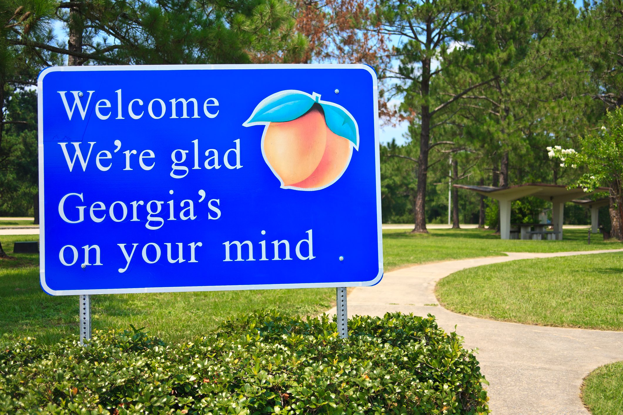 Georgia State Welcome Sign