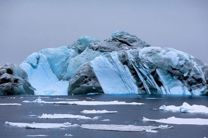 Antarctica, Near South Orkney Island, Marbled Iceberg...