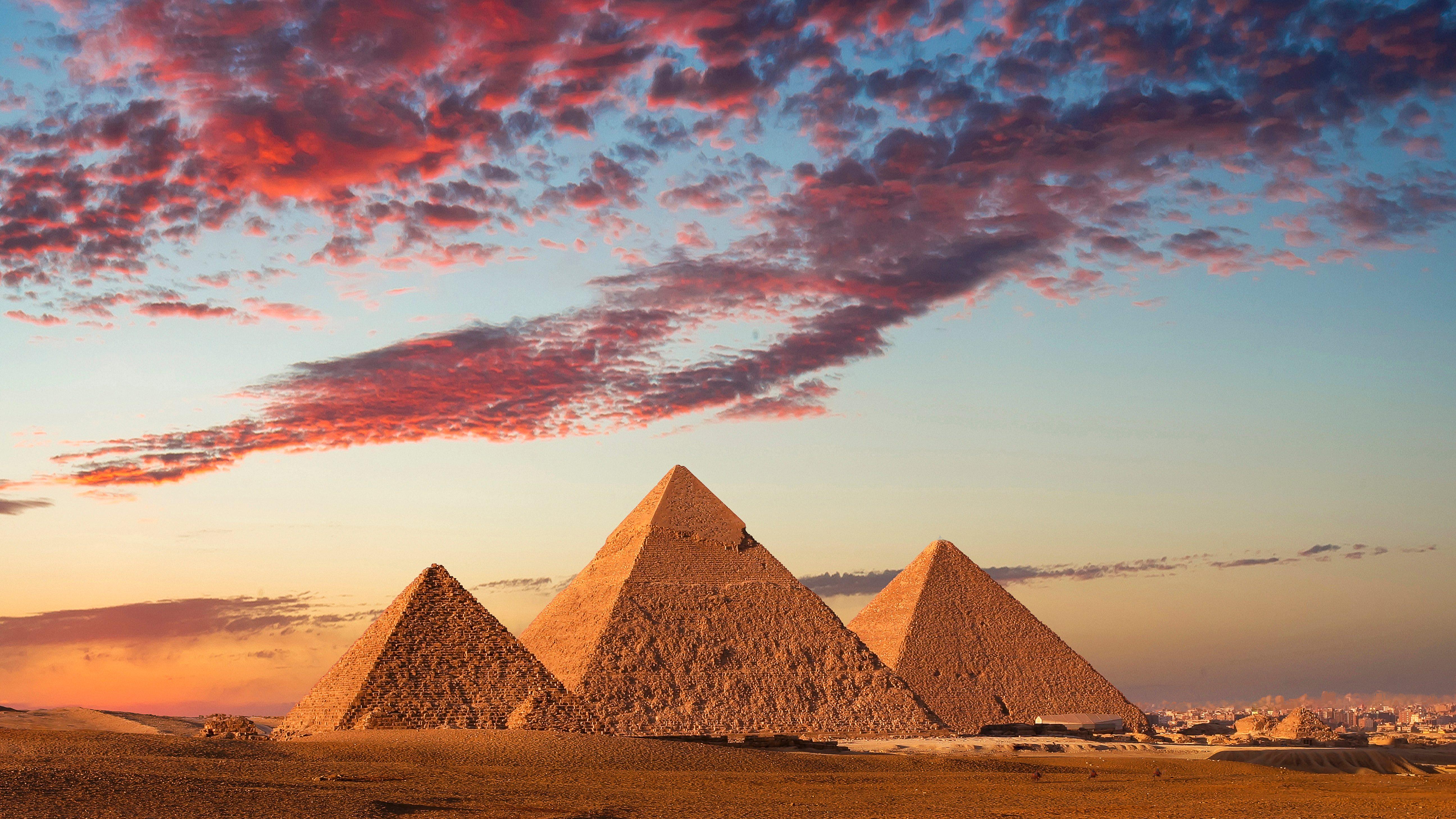 Sunset at the Pyramids, Giza, Cairo, Egypt