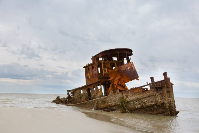 Wrecked Tug Boat