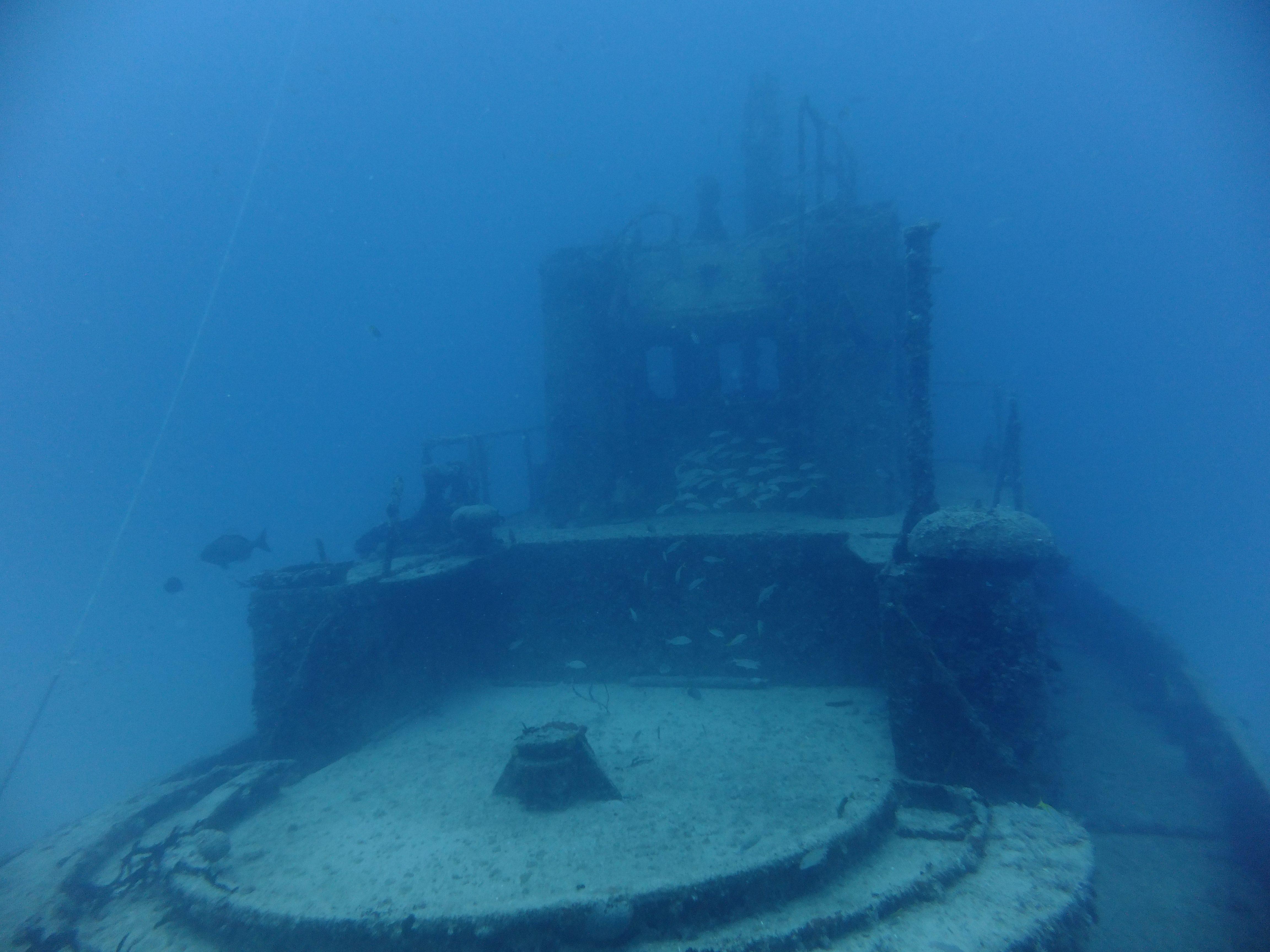 On a deck of a sunken ship