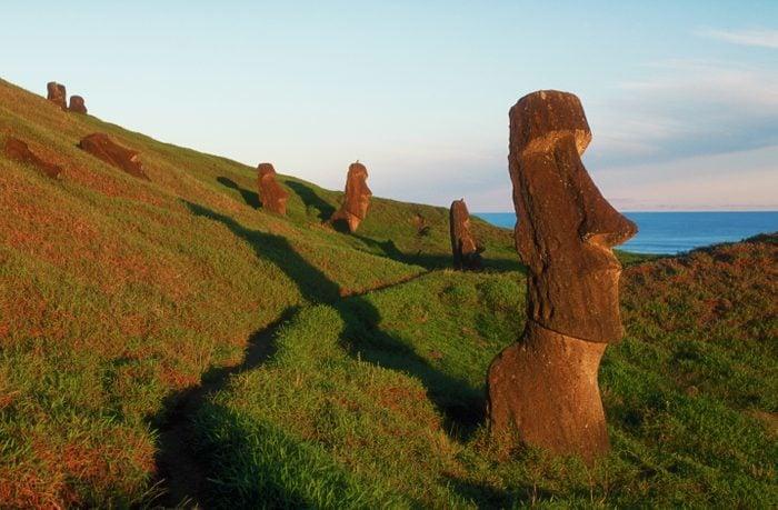 Moai Figures at Easter Island