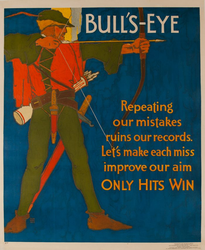 Mather Work Incentive Poster, Bull's Eye