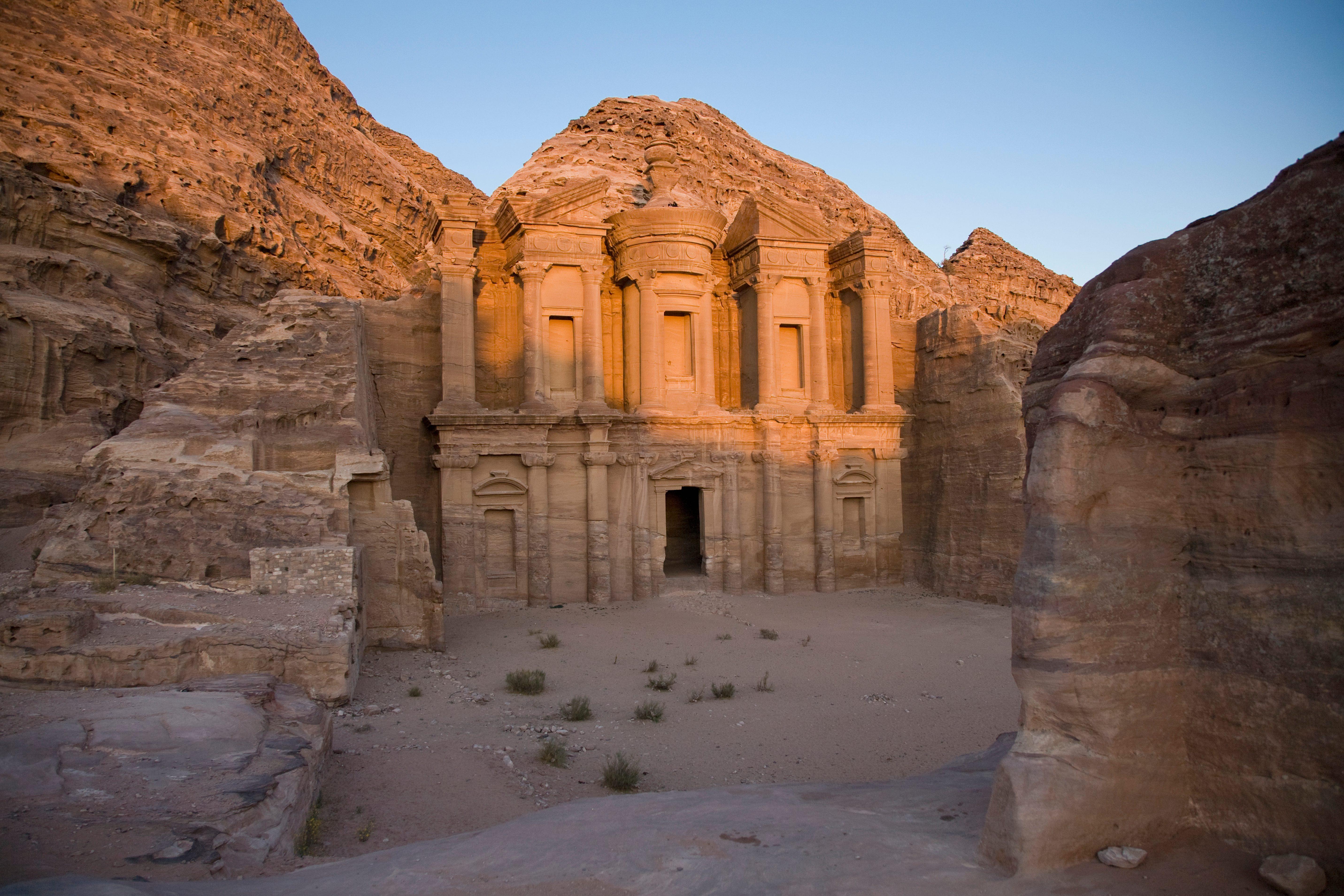 Ruins Of The Monastery; Petra Jordan