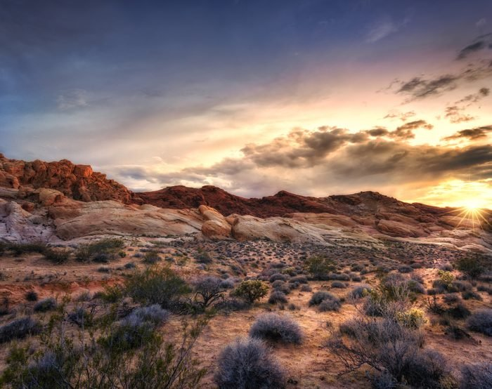 Sunset at Valley of Fire State Park, Nevada, USA
