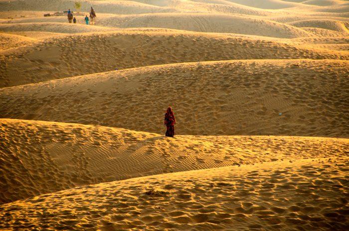 Women at Desert