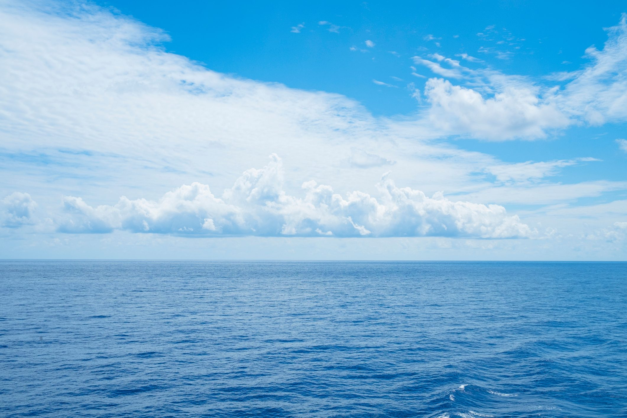 Calm Atlantic Ocean and Clouds off the Coast of Bermuda