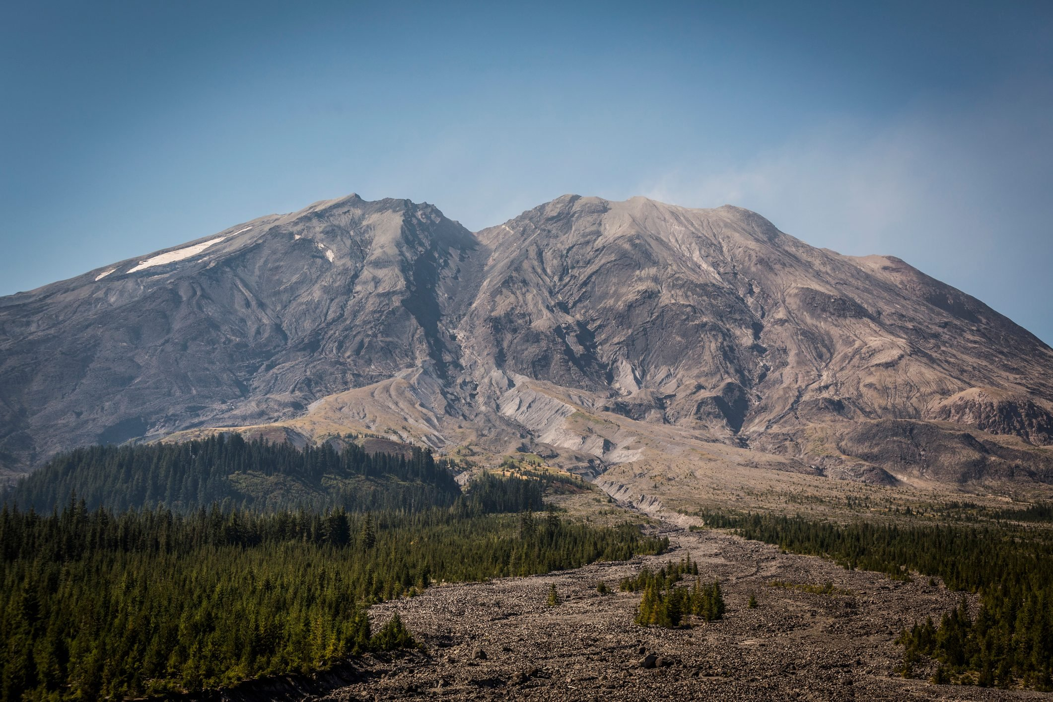 Mount St. Helens as View from Ape Canyon Trail, Washington, USA