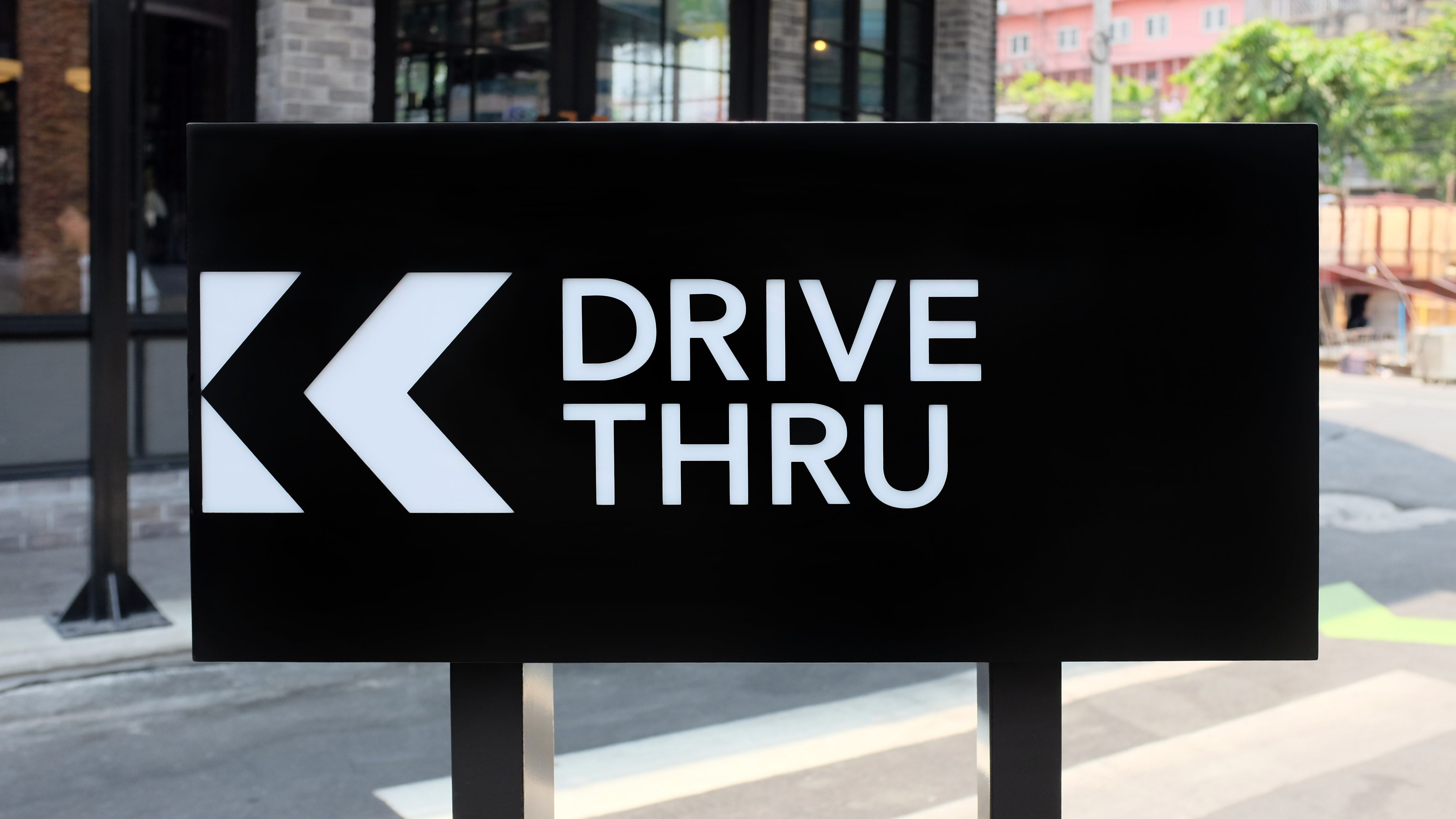 Drive thru sign board