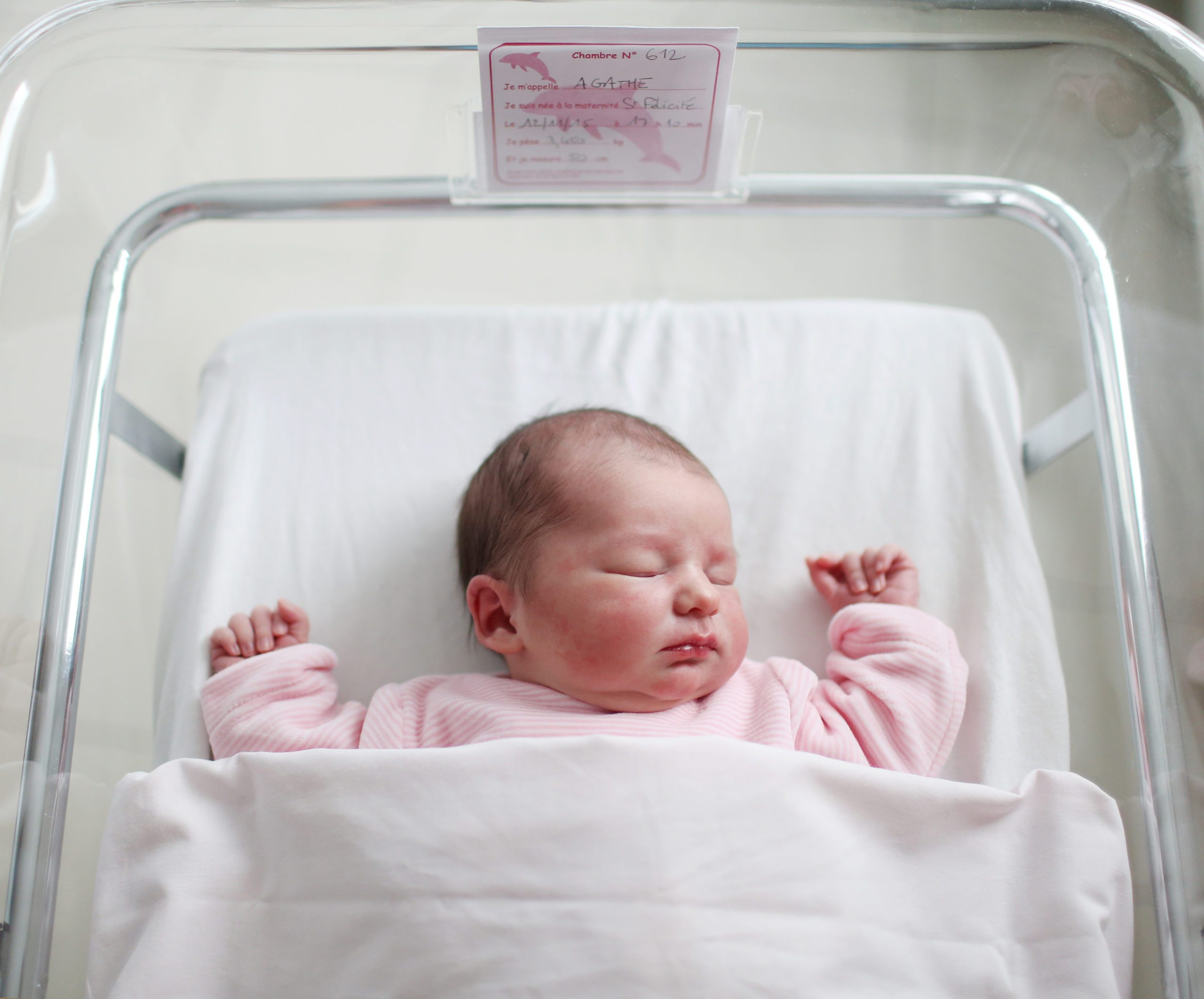 A newborn at the maternity ward