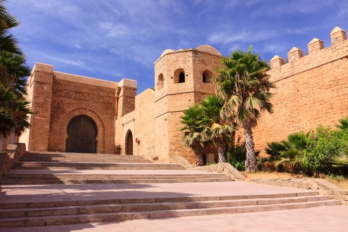 Main gate of the Kasbah of the Udayas in Rabat, Morocco.