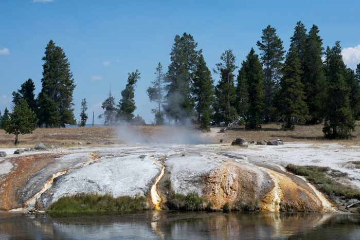 A view of Ojo Caliente Spring, located in the Lower Geyser Basin in Yellowstone National Park.