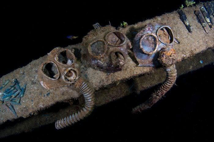Gas Masks on the Nippo Maru