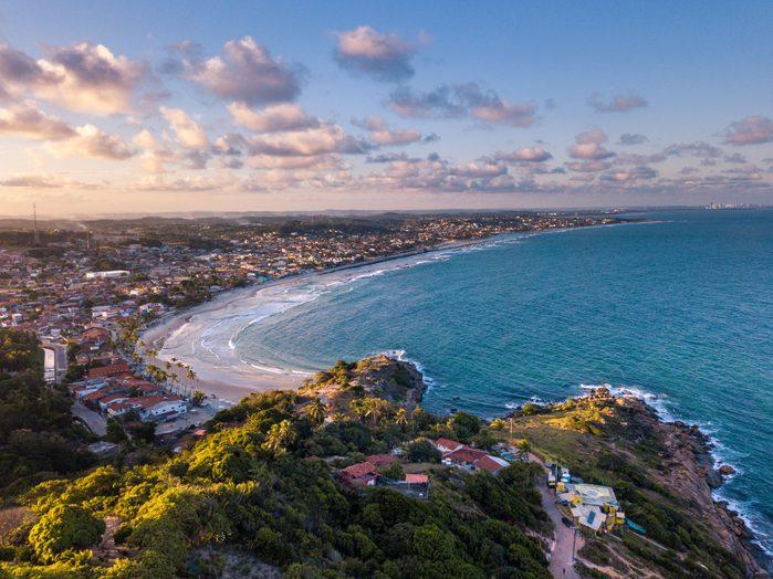Aerial view of the Beach in Calhetas and Gaibu