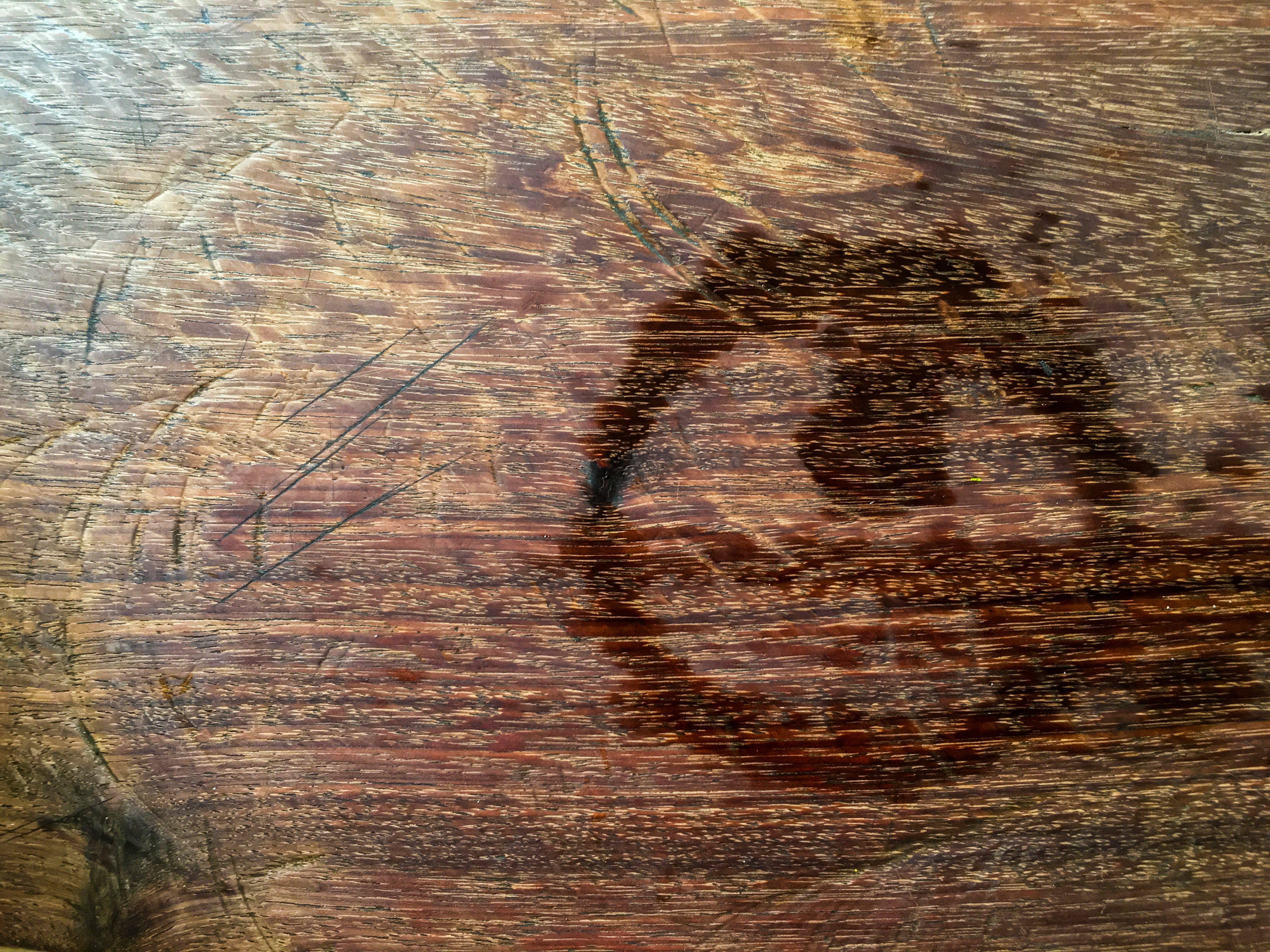 Trace water on wood, Abstract background