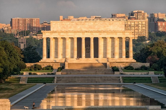 Lincoln Memorial Against Sky In City
