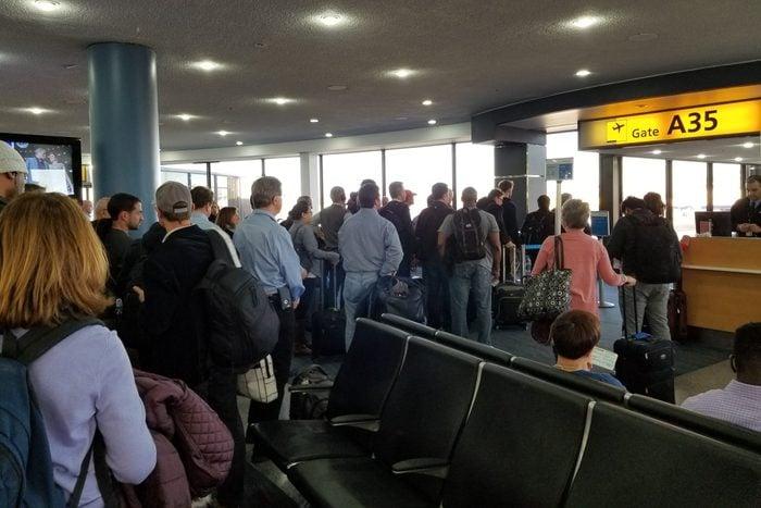 Crowded Newark Airport