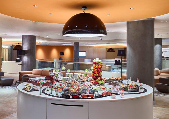 Breakfast buffet in Hotel in Moscow