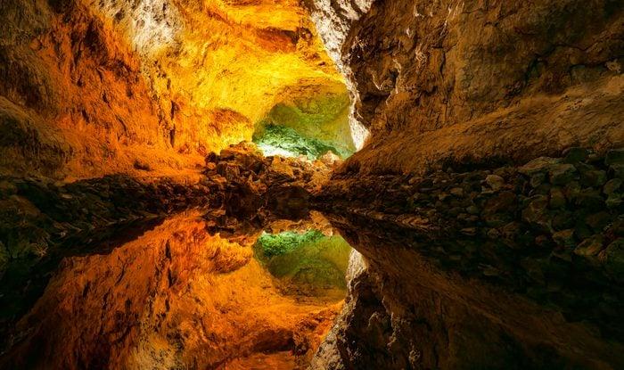 Cueva de los Verdes, volcanic cave in Lanzarote, Canary Islands