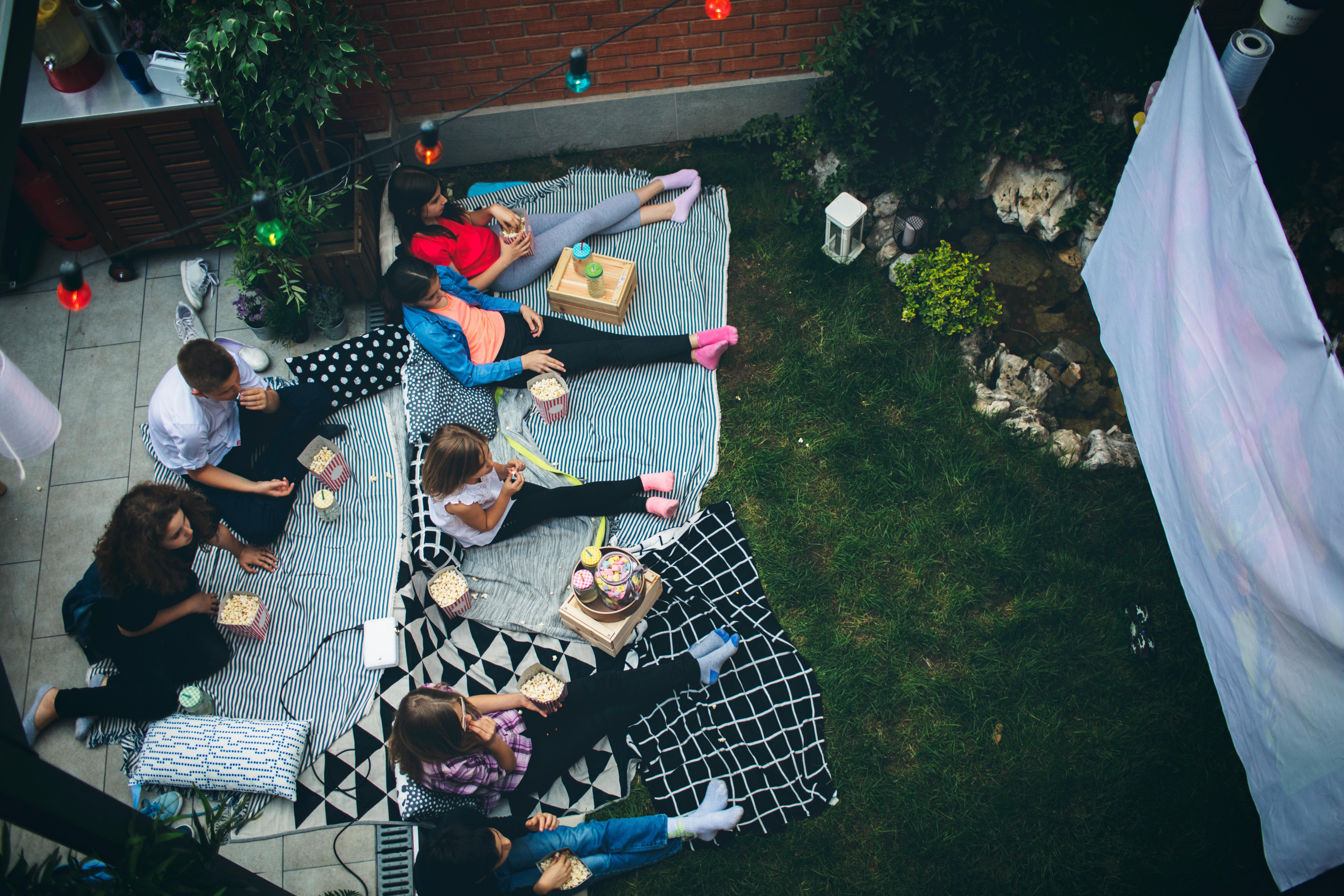 backyard home theater