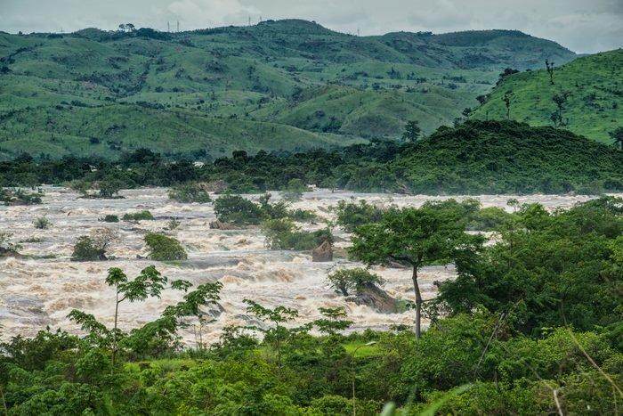 Inga Rapids of Livingstone Falls at Lower Congo River