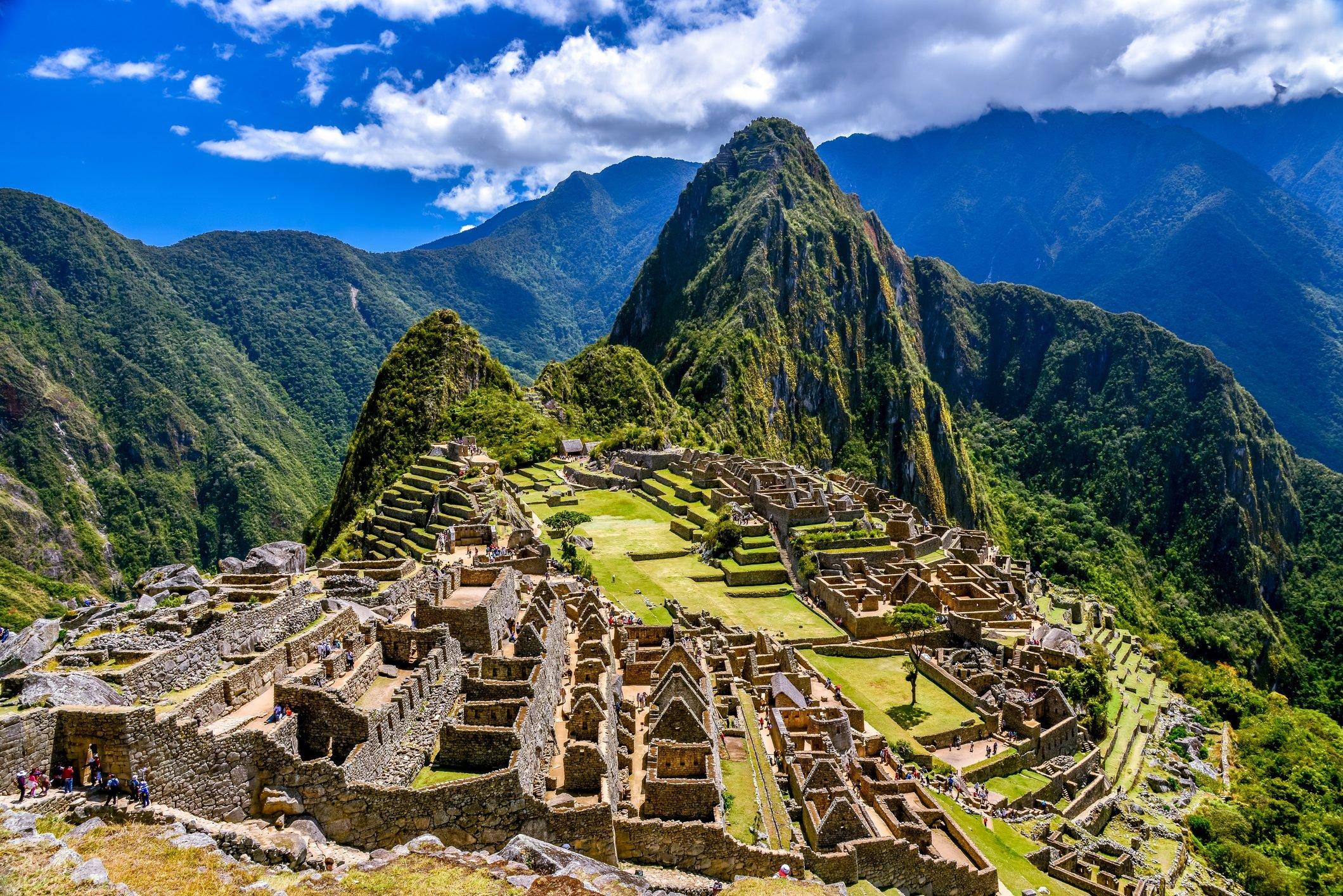 Ruins of Machu Picchu, Inca Trail, Andes, Peru
