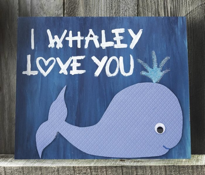 i whaley love you plaque mothers day craft idea