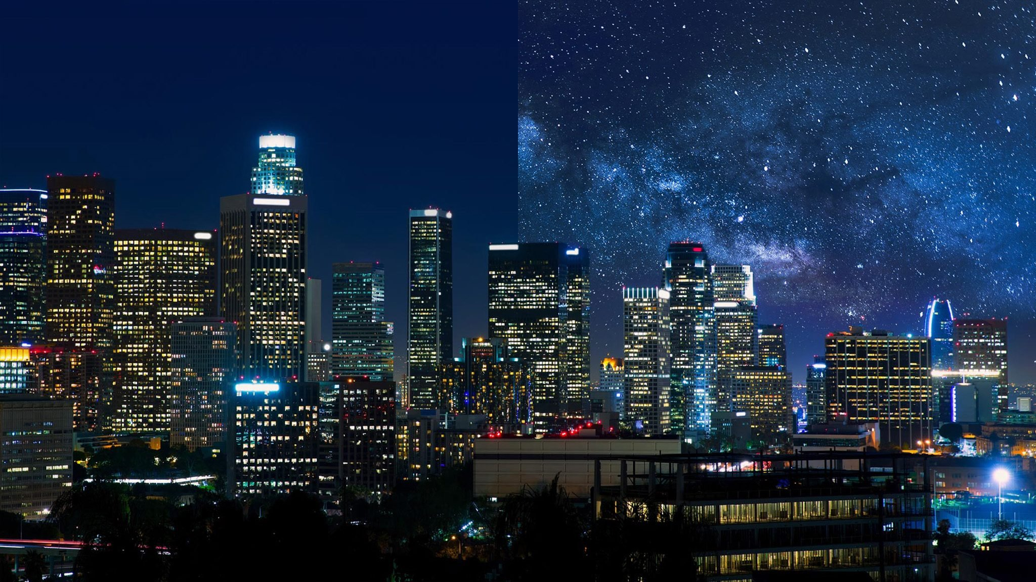 Los Angeles USA light pollution city America