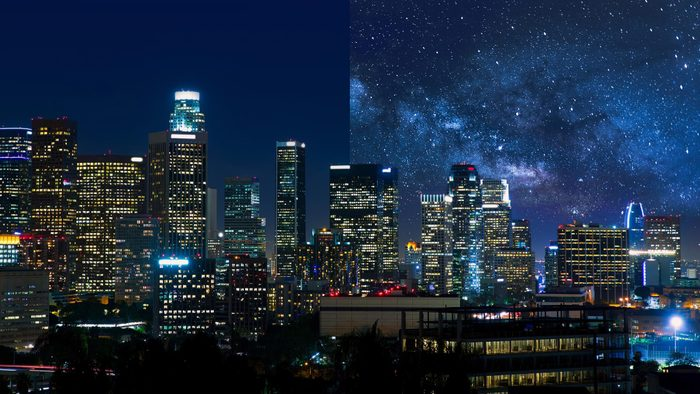 Los Angeles USA light pollution city America
