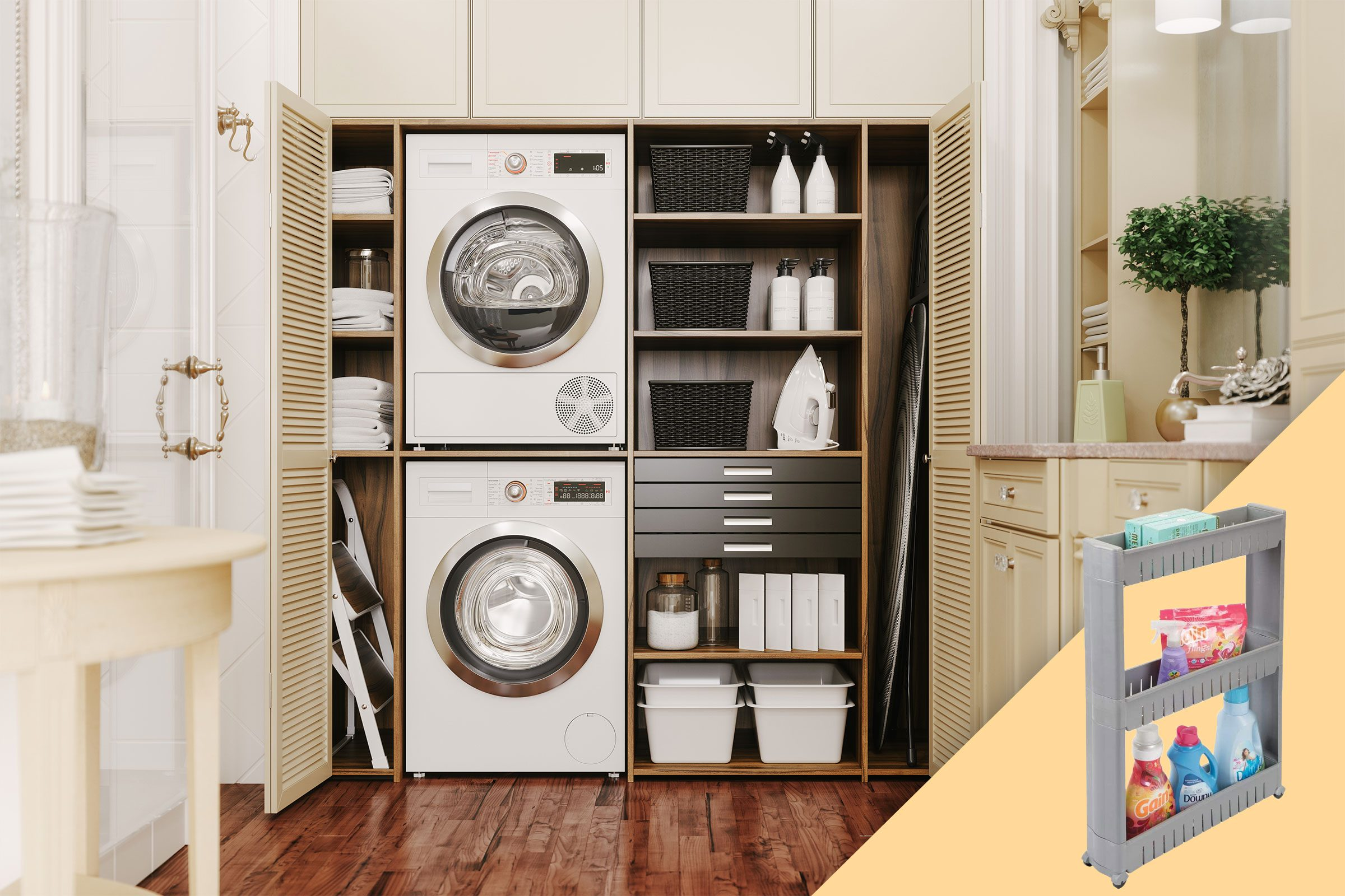 laundry room with suggested product
