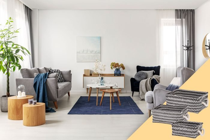 living room with suggested product